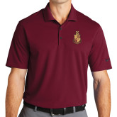 Nike Golf Dri Fit Cardinal Micro Pique Polo-Legacy Coat Of Arms