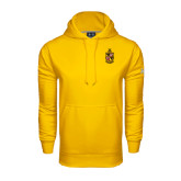 Under Armour Gold Performance Sweats Team Hoodie-Contemporary Coat Of Arms