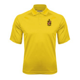 Gold Textured Saddle Shoulder Polo-Contemporary Coat Of Arms