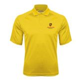 Gold Textured Saddle Shoulder Polo-Delta Chi Fraternity W/ Shield Stacked