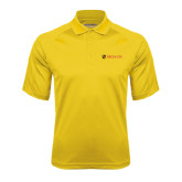 Gold Textured Saddle Shoulder Polo-Delta Chi Fraternity W/ Shield Flat