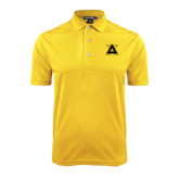 Gold Dry Mesh Polo-Badge