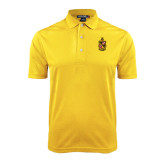 Gold Dry Mesh Polo-Contemporary Coat Of Arms