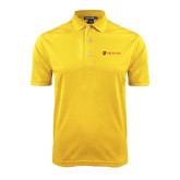 Gold Dry Mesh Polo-Delta Chi Fraternity W/ Shield Flat