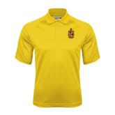Gold Dri Mesh Pro Polo-Contemporary Coat Of Arms
