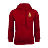 Cardinal Fleece Hoodie-Legacy Coat Of Arms