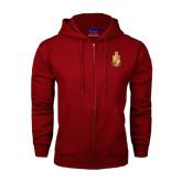 Champion Cardinal Fleece Full Zip Hood-Legacy Coat Of Arms