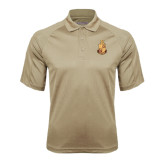 Vegas Gold Textured Saddle Shoulder Polo-Legacy Coat Of Arms