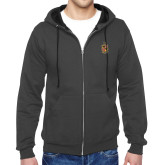 Charcoal Fleece Full Zip Hoodie-Contemporary Coat Of Arms