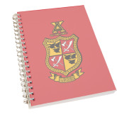 Clear 7 x 10 Spiral Journal Notebook-Contemporary Coat Of Arms