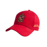 Red Heavyweight Twill Pro Style Hat-Contemporary Coat Of Arms
