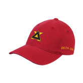 Red Flexfit Unstructured Low Profile Hat-Badge