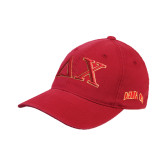 Red Flexfit Unstructured Low Profile Hat-Greek Letters
