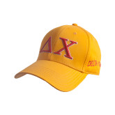 Gold Heavyweight Twill Pro Style Hat-Greek Letters