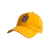 Gold Heavyweight Twill Pro Style Hat-Contemporary Coat Of Arms