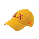 Gold Flexfit Mid Profile Hat-Greek Letters