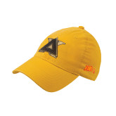 Gold Flexfit Unstructured Low Profile Hat-Badge