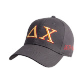 Steel Grey Heavyweight Twill Pro Style Hat-Greek Letters