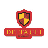 Small Magnet-Delta Chi Fraternity W/ Shield Stacked