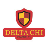 Medium Magnet-Delta Chi Fraternity W/ Shield Stacked