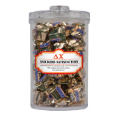 Snickers Satisfaction Large Round Canister-Greek Letters