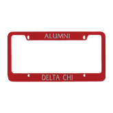 Metal Red License Plate Frame-Alumni