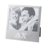 Silver 5 x 7 Photo Frame-Solid Greek Letters Engrave