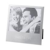 Silver 5 x 7 Photo Frame-Delta Chi Engrave