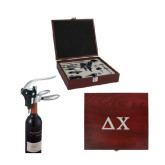 Executive Wine Collectors Set-Solid Greek Letters Engrave
