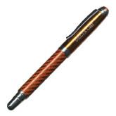 Carbon Fiber Orange Rollerball Pen-Delta Chi Engrave