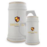 Full Color Decorative Ceramic Mug 22oz-Delta Chi Fraternity W/ Shield Stacked