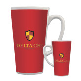 Full Color Latte Mug 17oz-Delta Chi Fraternity W/ Shield Stacked