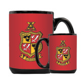 Full Color Black Mug 15oz-Contemporary Coat Of Arms
