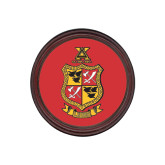 Round Coaster Frame w/Insert-Contemporary Coat Of Arms