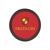 Round Coaster Frame w/Insert-Delta Chi Fraternity W/ Shield Stacked
