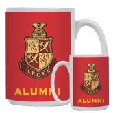 Alumni Full Color White Mug 15oz-Legacy Coat Of Arms