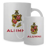 Alumni Full Color White Mug 15oz-Contemporary Coat Of Arms