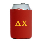 Collapsible Red Can Holder-Solid Greek Letters