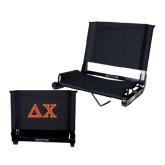 Stadium Chair Black-Greek Letters