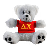 Plush Big Paw 8 1/2 inch White Bear w/Red Shirt-Solid Greek Letters