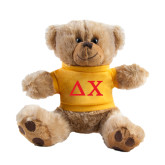 Plush Big Paw 8 1/2 inch Brown Bear w/Gold Shirt-Solid Greek Letters