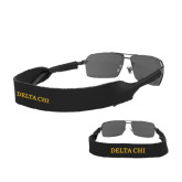 Croakies Black Wide Band Sunglasses Strap-Delta Chi