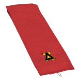 Red Golf Towel-Badge