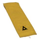 Gold Golf Towel-Badge