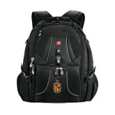 Wenger Swiss Army Mega Black Compu Backpack-Contemporary Coat Of Arms