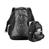 Wenger Swiss Army Tech Charcoal Compu Backpack-Badge