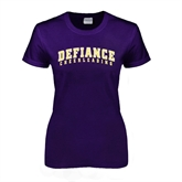 Ladies Purple T Shirt-Cheerleading