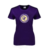 Ladies Purple T Shirt-Defiance College Baseball