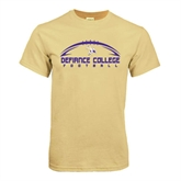 Champion Vegas Gold T Shirt-Flat Football Design
