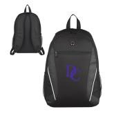 Atlas Black Computer Backpack-Interlocking DC